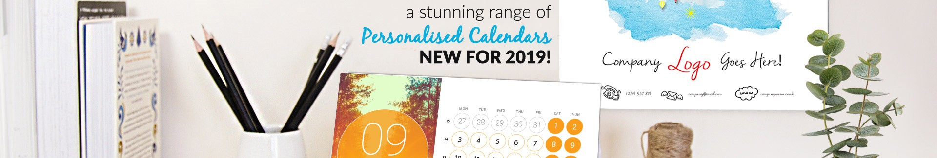 Personalised calendars for 2019
