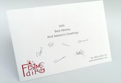 Signatures printed in card